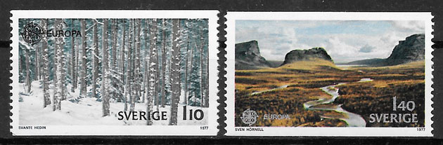 filatelia Europa Suecia 1977