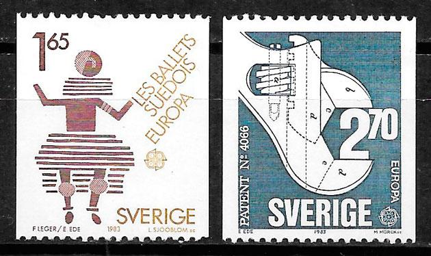 colección sellos Europa Suecia 1983