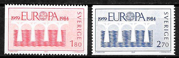 colección sellos Europa Suecia 1984