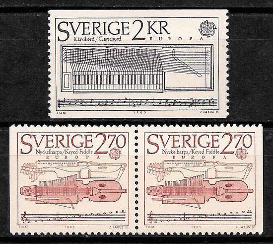 colección sellos Europa Suecia 1985