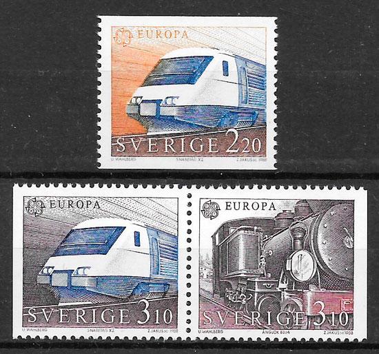 colección sellos Europa 1988 Suecia