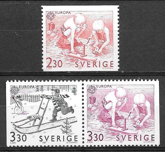 sellos Europa Suecia 1989