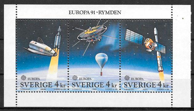 sellos Europa Suecia 1991