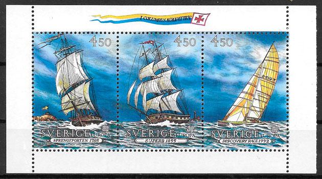 sellos Europa Suecia 1992
