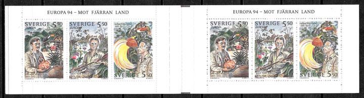 sellos Europa Suecia 1994