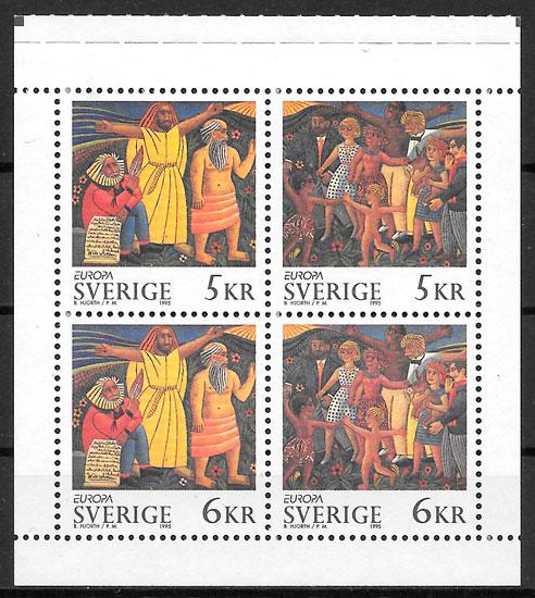 sellos Europa Suecia 1995