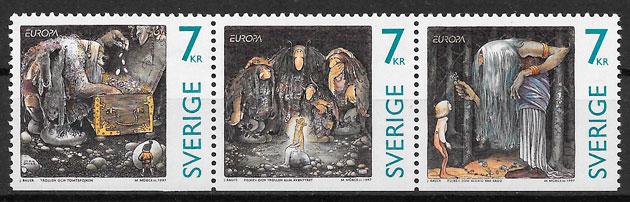 filatelia Europa Suecia 1996