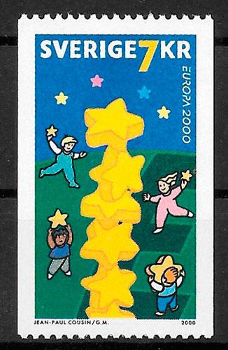 filatelia colección Europa Suecia 2000