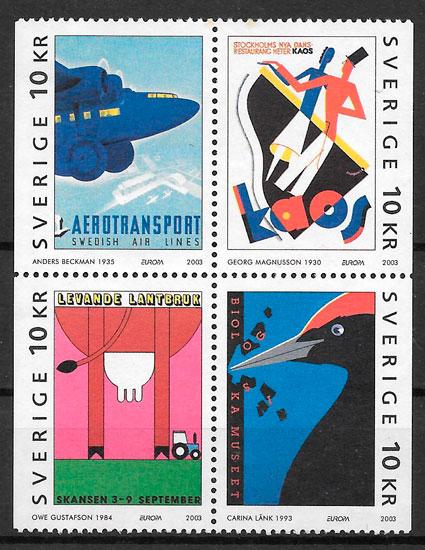 filatelia colección Europa Suecia 2003