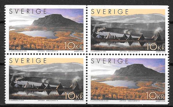 colección sellos Europa 2004 Suecia