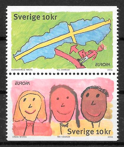 colección sellos Europa 2006 Suecia