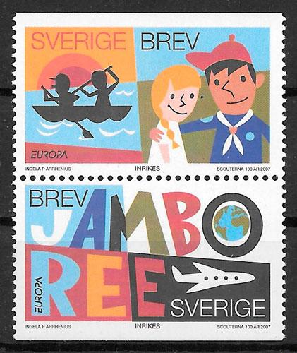 colección sellos Europa 2007 Suecia