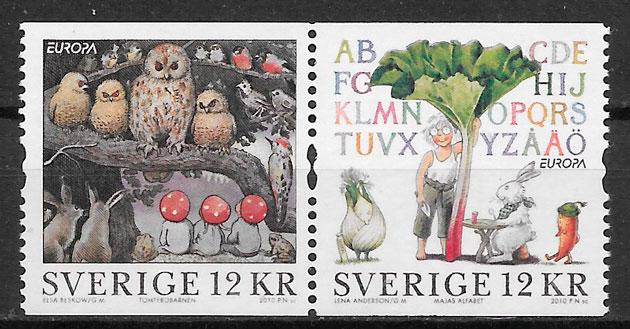 sellos Europa Suecia 2010
