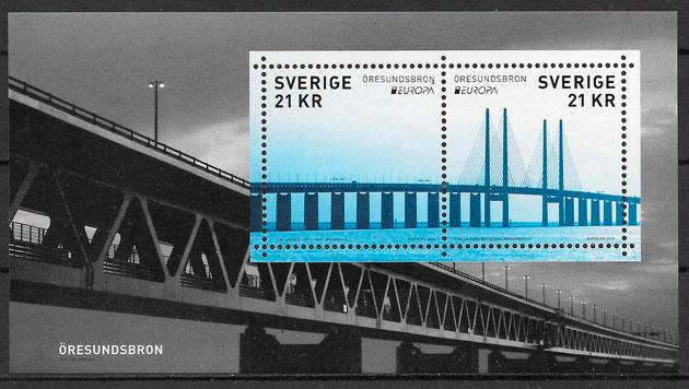 colección selos Europa Suecia 2018