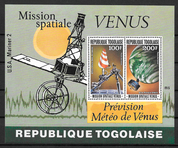 filatelia espacio Togo 1978