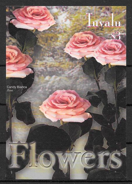 sellos rosas Tuvalu 2003