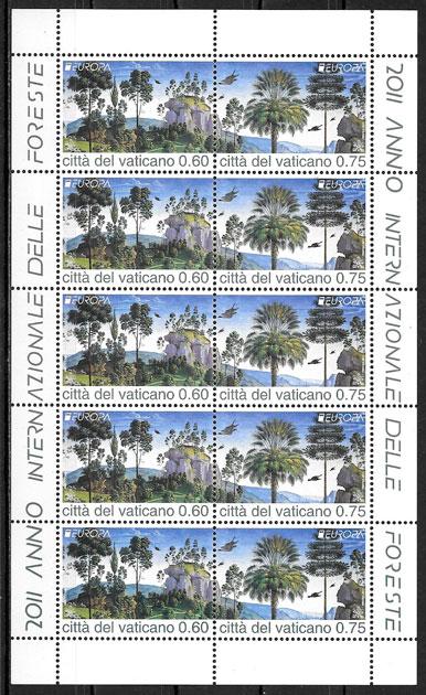 sellos Europa 2011 Vaticano