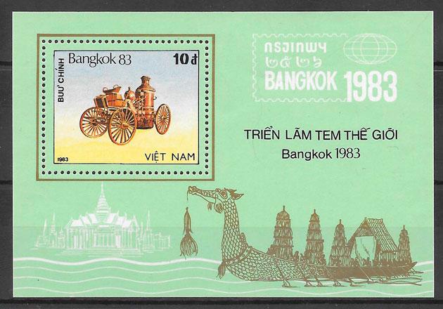 filatelia colección transporte Viet Nam 1983