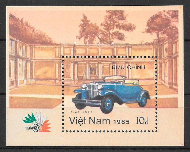 colección sellos transporte Viet Nam 1985