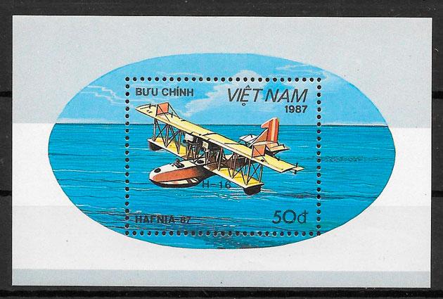 filatelia colección transporte Viet Nam 1987