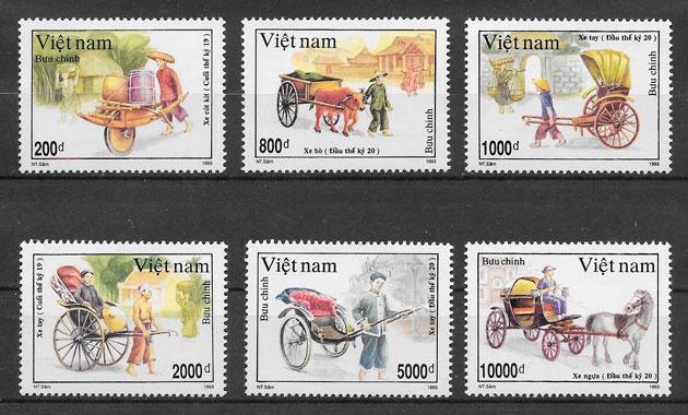 filatelia transporte Viet Nam 1993