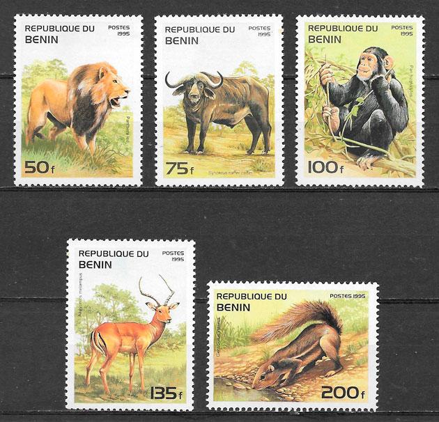 colección sellos fauna Benin 1995