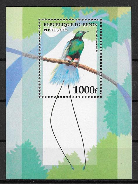 colección sellos fauna Benin 1996