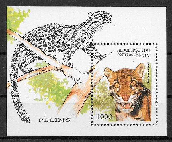 filatelia colección fauna Benin 1996