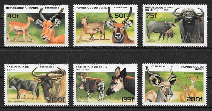 sellos fauna Benin 1996