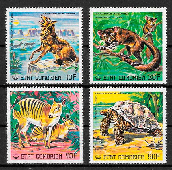 sellos fauna Camerún 1977