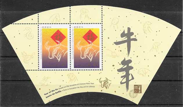 coleccion sellos año lunar Canada 1997