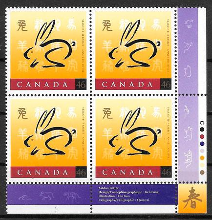 filatelia año lunar CANADA 1997