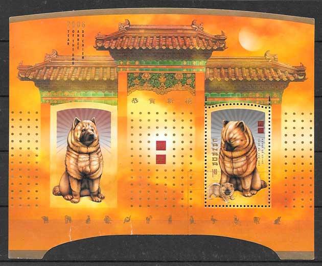 filatelia ano lunar Canada 2006