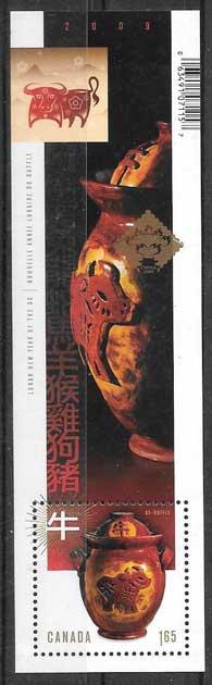 selos año lunar Canada 2009