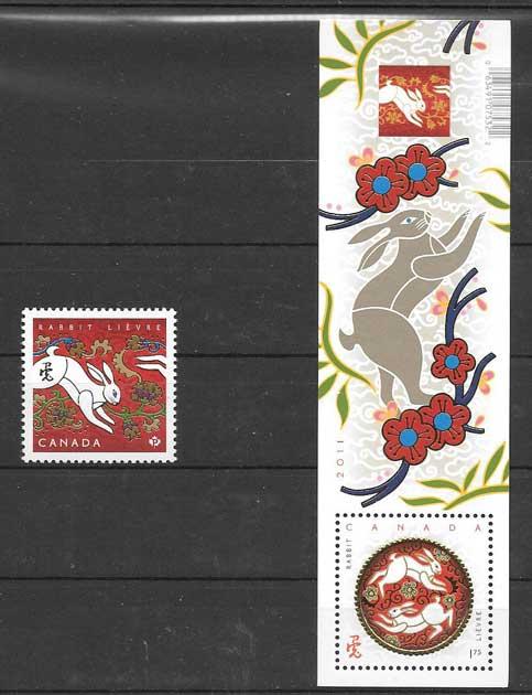 selos año lunar Canada 2011
