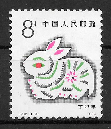 sellos año lunar china 1987