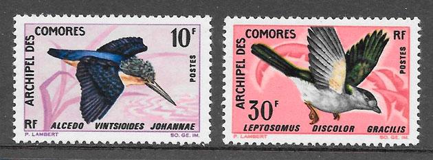 filatelia colección fauna Comores