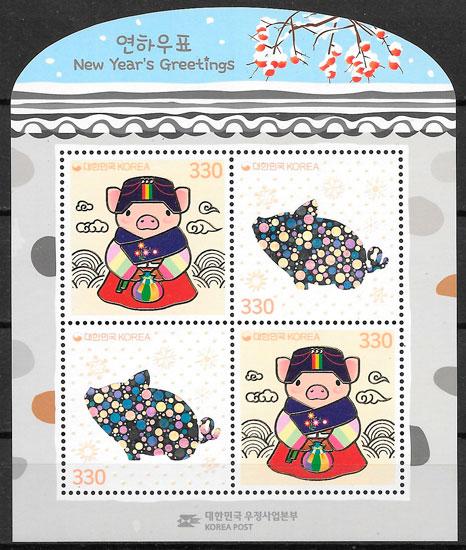 sellos año lunar Corea del Sur 2019
