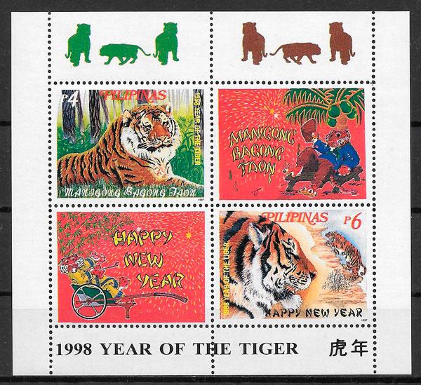 sellos año lunar Filipinas 1997