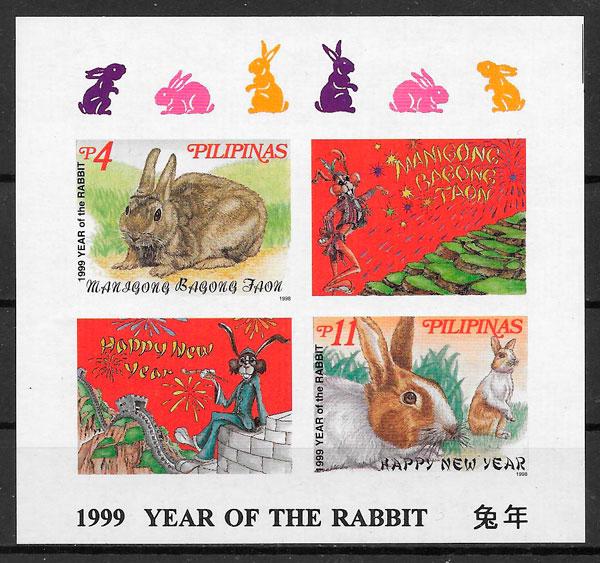 sellos año lunar Filipinas 1999