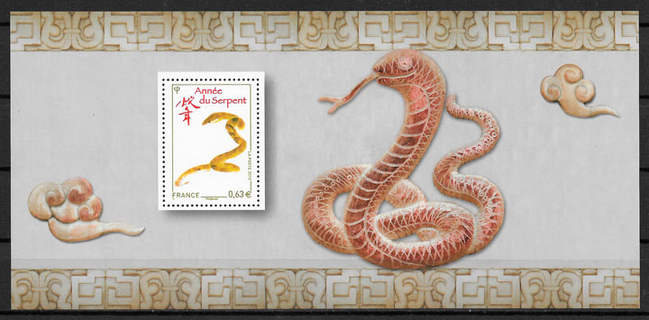 colección sellos año lunar Francia 2013