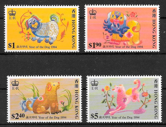 sellos ano lunar Hong Kong 1994