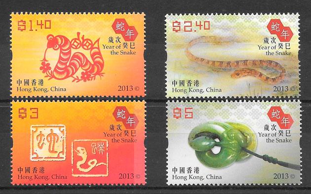 sellos ano lunar Hong Kong 2013
