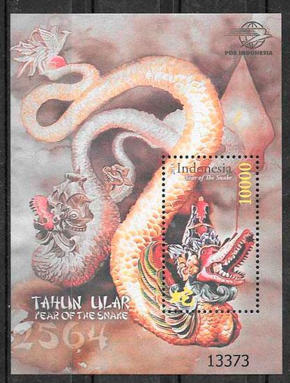 sellos ano lunar Indonesia 2013