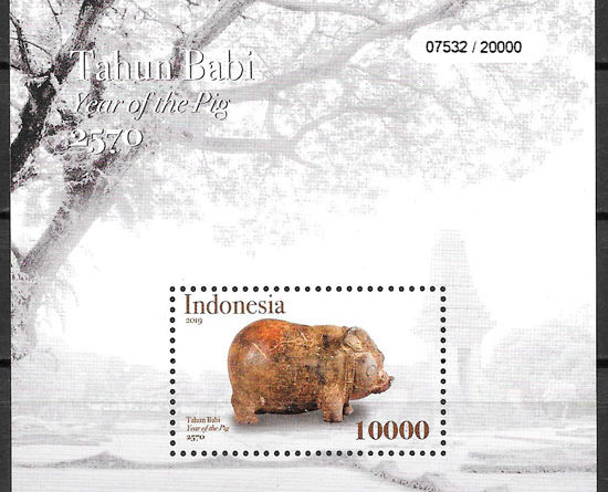 sellos año lunar Indonesia 2019