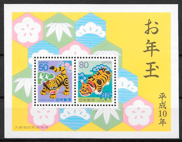 filatelia año lunar Japón 1998