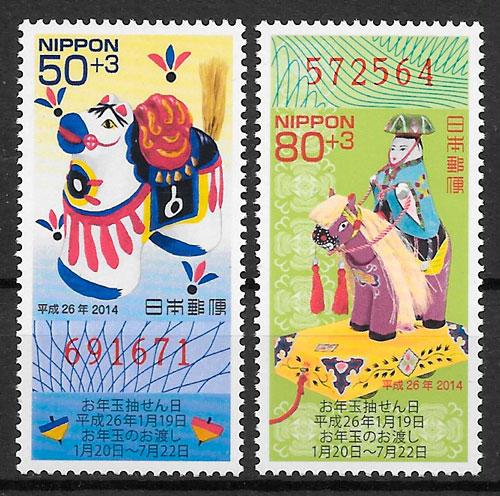 sellos año lunar Japón 2013