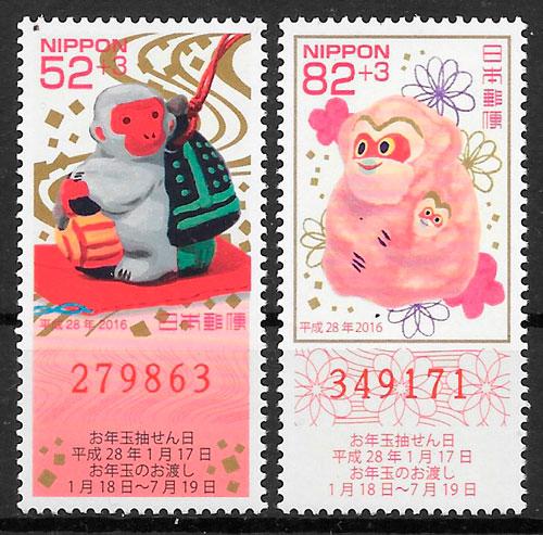 filatelia año lunar 2015 Japón