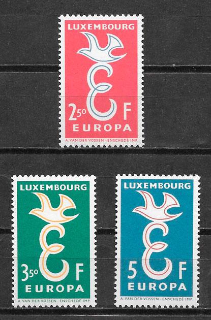 filatelia tema Europa Luxemburgo 1958