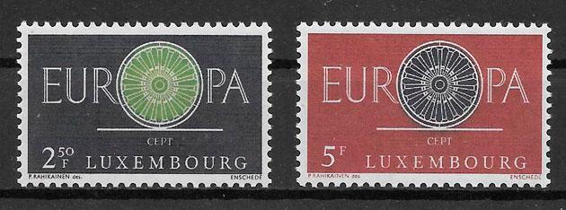 filatelia colección tema Europa Luxemburgo 1961